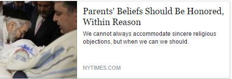 Professor Richard Garnett, Notre Dame Law School, New York Times, Parents' Beliefs vs